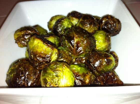 Bowl full of Brussels