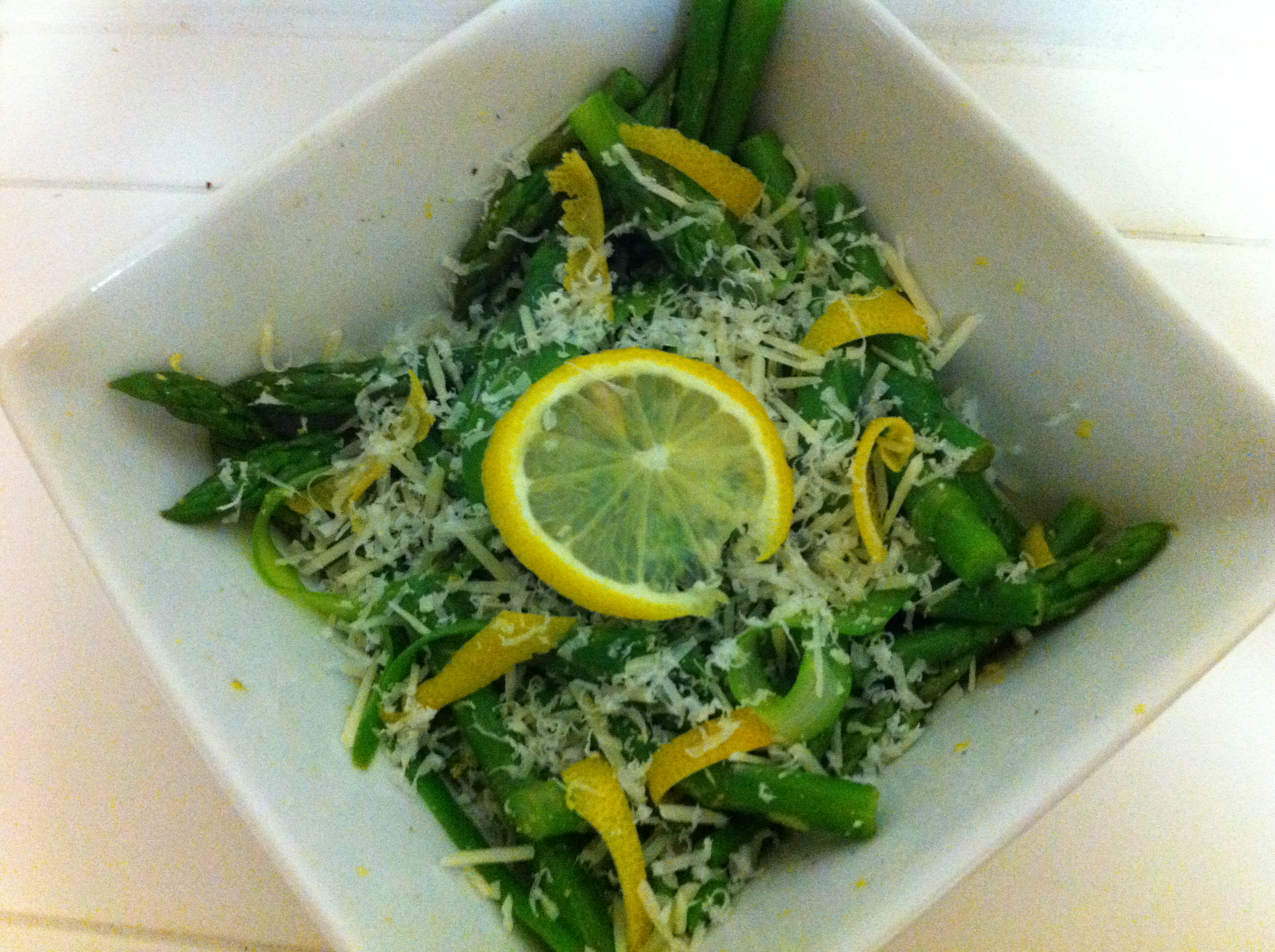 Blanched Lemon Asparagus